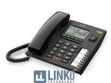 ALCATEL TELEFONO FIJO COMPACTO T76 NEGRO