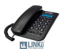 MAXCOM TELEFONO FIJO  KXT100  BLACK
