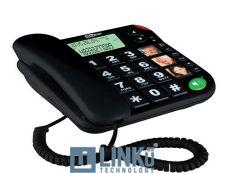 MAXCOM TELEFONO FIJO  KXT480  BLACK